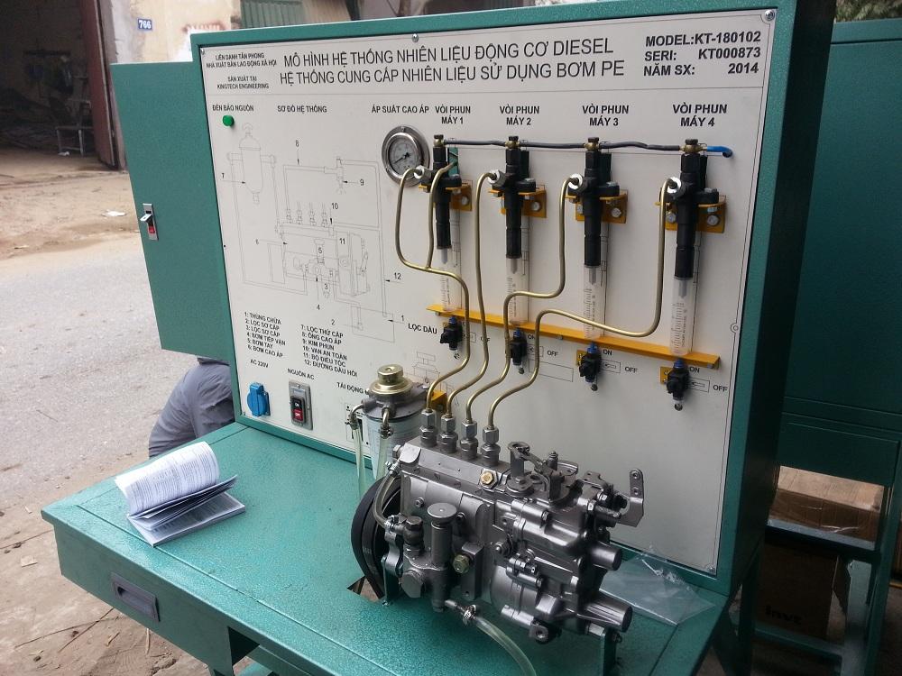 Mô hình hệ thống cung cấp nhiên liệu động cơ Diesel sử dụng bơm PE
