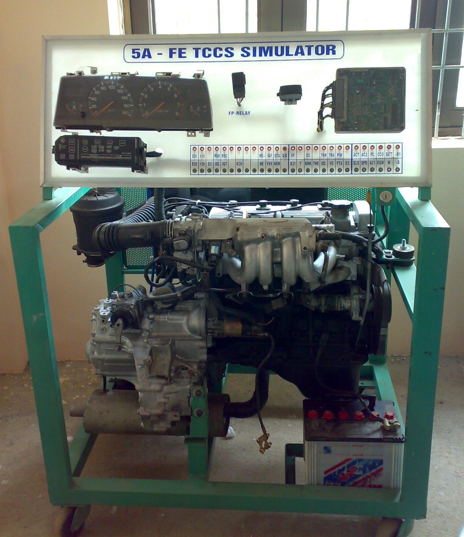 Mô hình động cơ phun xăng điện tử Toyota 5A K5AFEEC