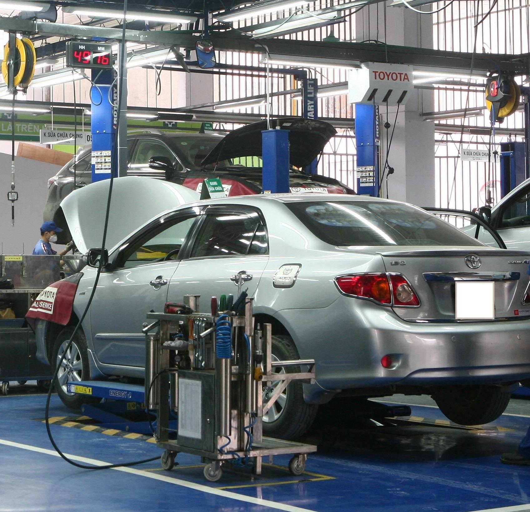 Xe dụng cụ Khoang Sửa chữa nhanh Toyota ( Khoang EM)